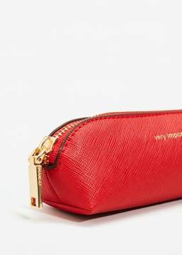 MANGO Message saffiano-effect cosmetic bag