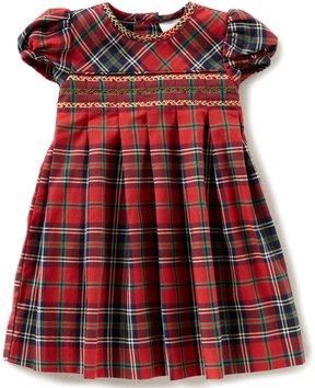 Edgehill Collection Baby Girls 3-24 Months Plaid Short-Sleeve Dress