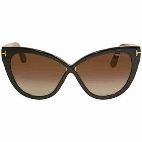 Tom Ford Arabella Brown Gradient Cat Eye Sunglasses FT0511 05G