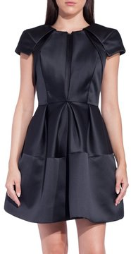 Dice Kayek Zip Front Short Sleeve Dress Black
