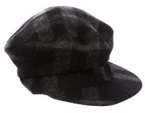 Burberry Plaid Wool-Blend Driving Hat