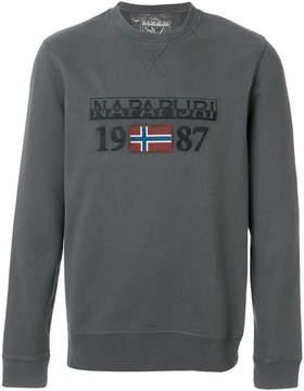Napapijri logo patch sweatshirt