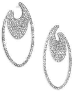Adriana Orsini Pavé Oval Hoop Earrings
