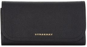 Burberry Kenton Leather Continental Wallet - BLACK - STYLE