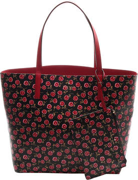 Kate Spade Black Floral Arch Place Leather Tote