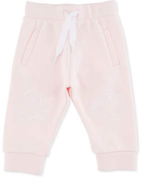 Kenzo Sweatpants w/ Tiger Face Knees, Pink, Size 2-3