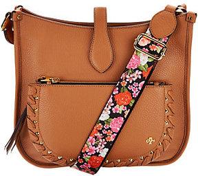As Is orYANY Pebble Leather Messenger Bag - Anita