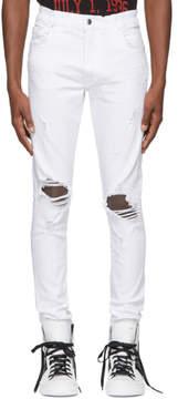 Amiri White Thrasher Jeans