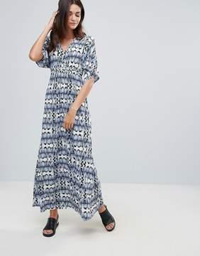 B.young Printed Kimono Maxi Dress