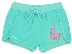 Butter Shoes Girls' Fleece Flamingo Shorts - Big Kid