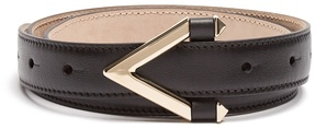 VALENTINO Monogram skinny leather belt