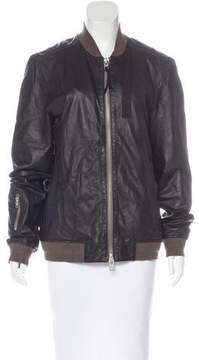AllSaints Leather Longline Jacket