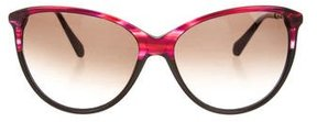 Balmain Marbled Cat-Eye Sunglasses w/ Tags
