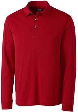 Cutter & Buck Red Belfair Long-Sleeve Pima Polo - Men