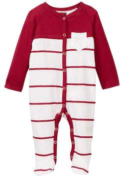 7 For All Mankind Striped Footie (Baby Girls)