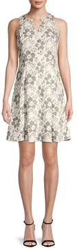 Donna Ricco Women's Sleeveless A-Line Lace Dress