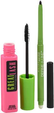 Maybelline Great Lash Washable Mascara/Define a Line Eyeliner Pencil Very Black