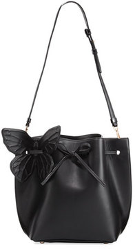 Sophia Webster Remi Butterfly Leather Bucket Bag