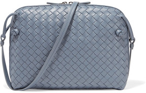 Bottega Veneta - Nodini Small Intrecciato Leather Shoulder Bag - Light blue