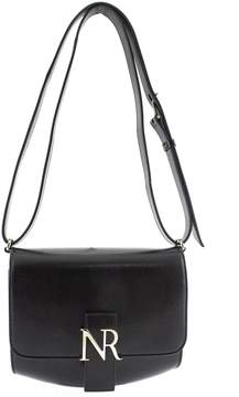 Nina Ricci Shoulder Bag In Black Leather.