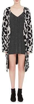 Amiri Women's Leopard-Pattern Wool-blend Jacquard Cardigan