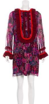 Anna Sui Silk Floral Dress
