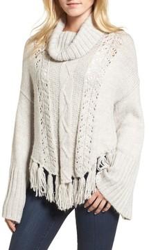 Cupcakes And Cashmere Women's Prilla Fringe Cowl Neck Sweater