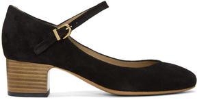 A.P.C. Black Suede Victoria Heels