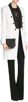 Roland Mouret Leather Envelope Clutch