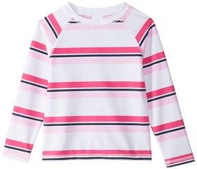 Snapper Rock Girls' Cabana Stripe L/S Rashguard (2T16) - 8155101