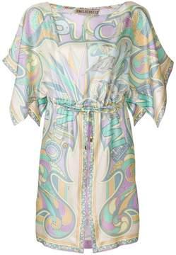 Emilio Pucci printed drawstring waist dress