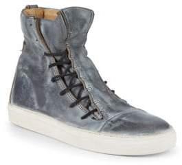 John Varvatos Mac Lace-Up Leather High-Top Sneakers