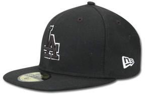New Era Kids' Los Angeles Dodgers Mlb Black and White Fashion 59FIFTY Cap