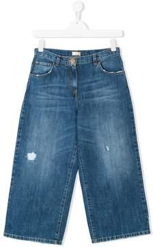 Elisabetta Franchi La Mia Bambina distressed jeans
