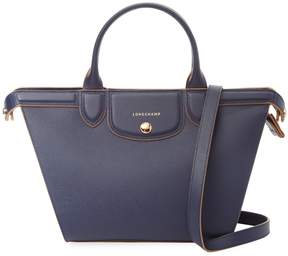 Longchamp Women's Le Pliage Heritage Medium Leather Tote - DARK BLUE/NAVY - STYLE