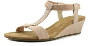 Alfani Voyage W Open Toe Canvas Wedge Sandal.
