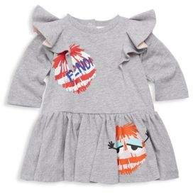 Fendi Baby Girl's Monster Cotton Dress