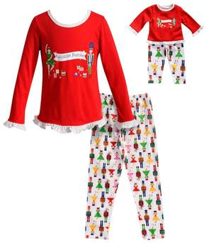 Dollie & Me Girls 4-14 Nutcracker Princess Ruffled Top & Bottoms Pajama Set