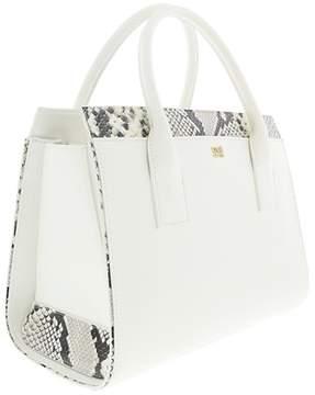 Roberto Cavalli Medium Handbag Lucille 002 White Satchel Bag.