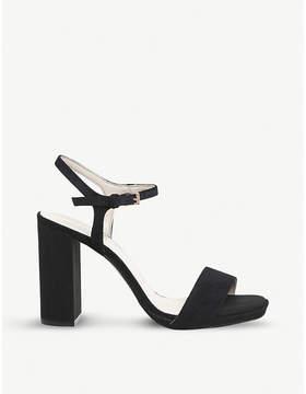 Office Hazzard slim platform-heeled suede sandals
