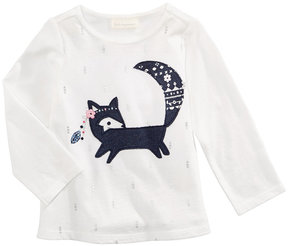 First Impressions Fox-Print Cotton T-Shirt, Baby Girls (0-24 months), Created for Macy's