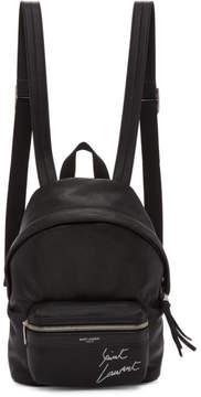 Saint Laurent Black Mini Leather City Backpack