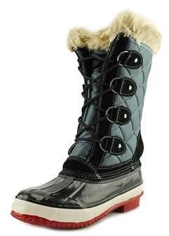 Khombu Melanie Women Round Toe Synthetic Gray Winter Boot.