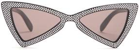 Saint Laurent Jerry embellished bow-tie shaped sunglasses