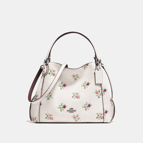 COACH Coach Edie Shoulder Bag 28 With Cross Stitch Floral Print - DARK GUNMETAL/CHALK CROSS STITCH FLORAL - STYLE