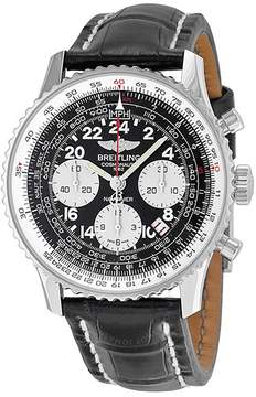 Breitling Navitimer Cosmonaute Black Dial Leather Men's Watch