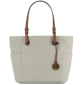 Michael Kors White Leather Shoulder Bag - WHITE - STYLE