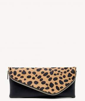 Sole Society Tamika Genuine Haircalf Foldover Clutch
