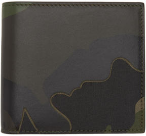 Valentino Green Garavani Camo Bifold Wallet