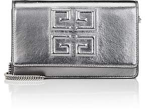 Givenchy Women's Emblem Metallic Leather Chain Wallet